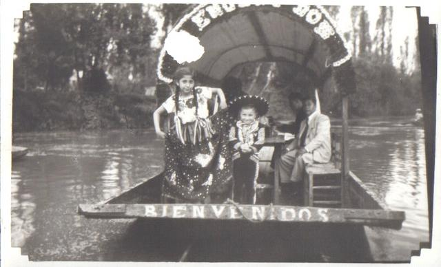 Marito and Evita in Xochimilco