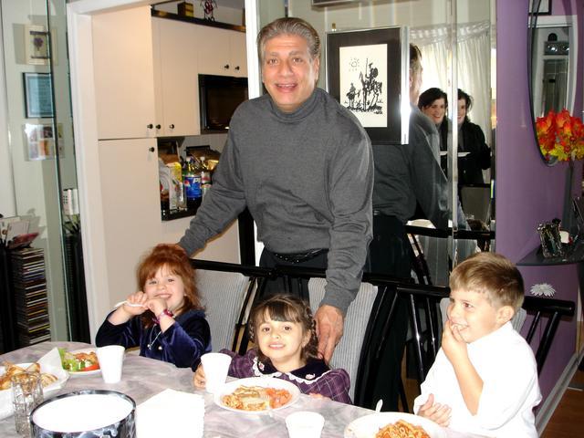 Pop Pop with grandkids