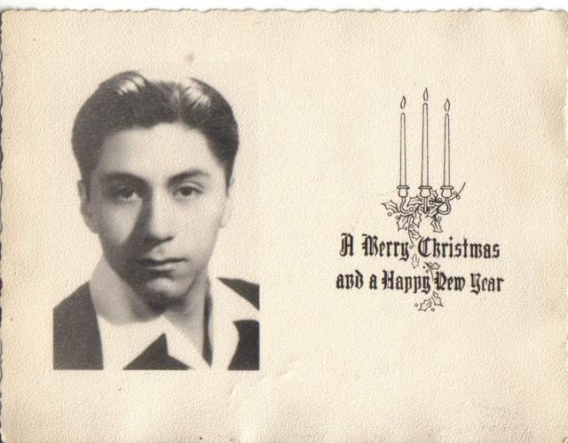Dad's Christmas Card 1940's