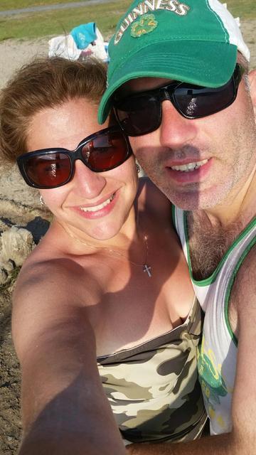 ginger and joe at beach