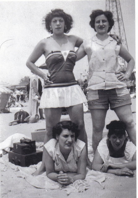 Steve's Mom and sisters at the beach