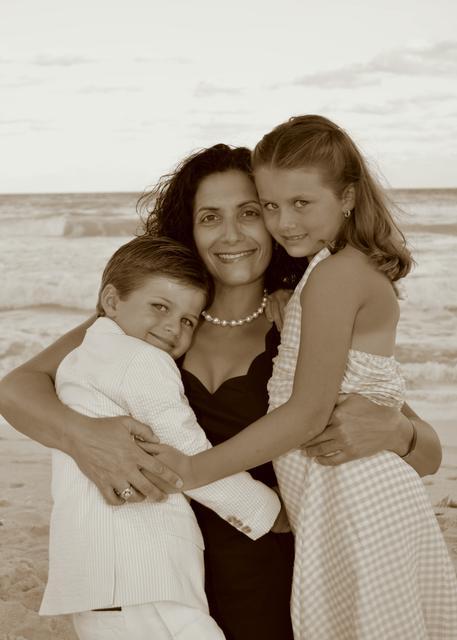 Stephanie with kids