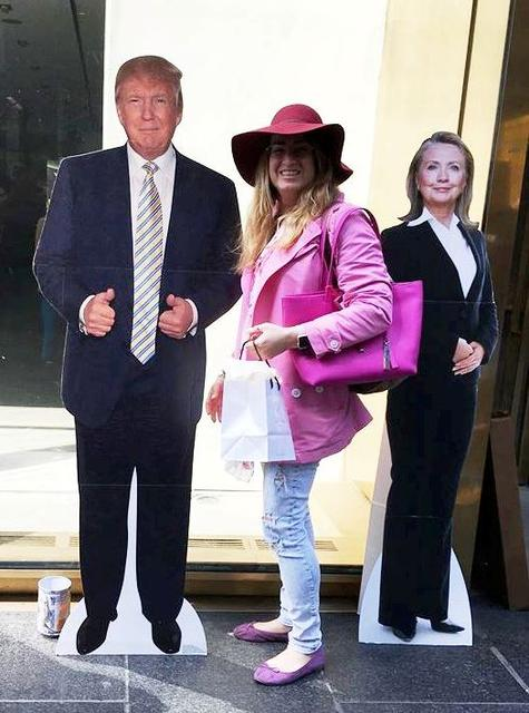 MANDY WITH TRUMP AND HILLARY