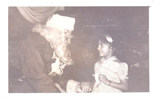 eva with santa