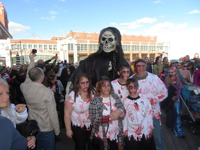 zombie walk Asbury Park Oct 2019
