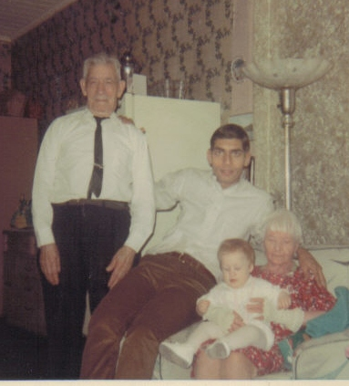 Steve with grandparents and little Kris